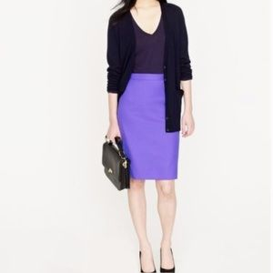 J. Crew The Pencil Skirt in violet